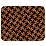 HOUNDSTOOTH2 BLACK MARBLE & RUSTED METAL Double Sided Flano Blanket (Medium)  60 x50 Blanket Back