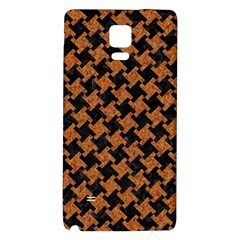 Houndstooth2 Black Marble & Rusted Metal Galaxy Note 4 Back Case