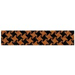 HOUNDSTOOTH2 BLACK MARBLE & RUSTED METAL Flano Scarf (Small) Front