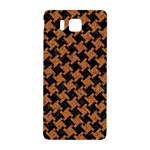 HOUNDSTOOTH2 BLACK MARBLE & RUSTED METAL Samsung Galaxy Alpha Hardshell Back Case Front