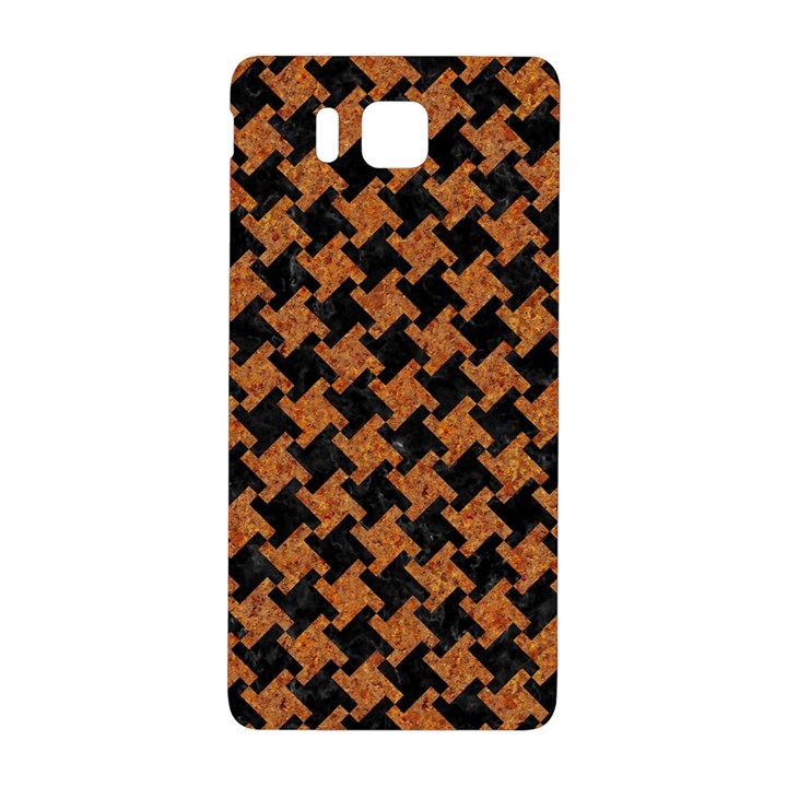 HOUNDSTOOTH2 BLACK MARBLE & RUSTED METAL Samsung Galaxy Alpha Hardshell Back Case