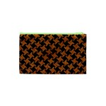 HOUNDSTOOTH2 BLACK MARBLE & RUSTED METAL Cosmetic Bag (XS) Back