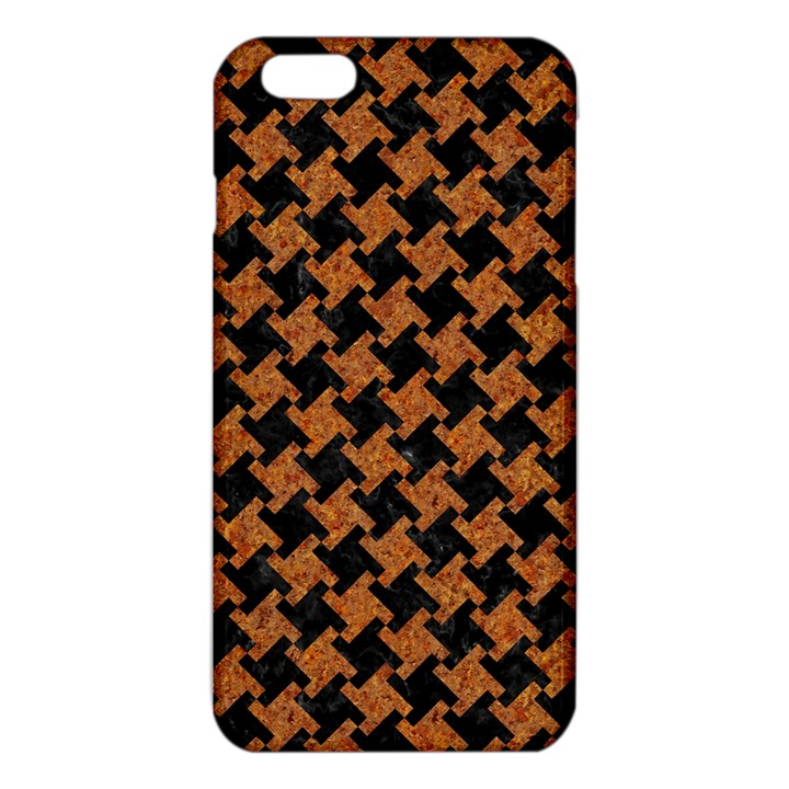HOUNDSTOOTH2 BLACK MARBLE & RUSTED METAL iPhone 6 Plus/6S Plus TPU Case