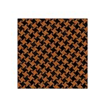 HOUNDSTOOTH2 BLACK MARBLE & RUSTED METAL Satin Bandana Scarf Front