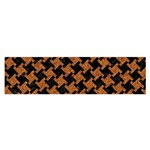 HOUNDSTOOTH2 BLACK MARBLE & RUSTED METAL Satin Scarf (Oblong) Front