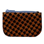 HOUNDSTOOTH2 BLACK MARBLE & RUSTED METAL Large Coin Purse Front
