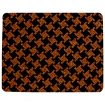 HOUNDSTOOTH2 BLACK MARBLE & RUSTED METAL Jigsaw Puzzle Photo Stand (Rectangular) Front