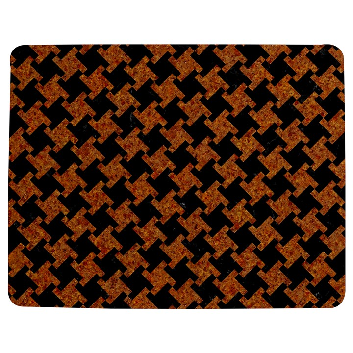HOUNDSTOOTH2 BLACK MARBLE & RUSTED METAL Jigsaw Puzzle Photo Stand (Rectangular)