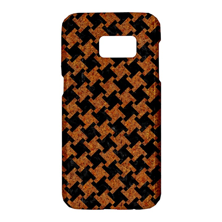 HOUNDSTOOTH2 BLACK MARBLE & RUSTED METAL Samsung Galaxy S7 Hardshell Case