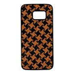 HOUNDSTOOTH2 BLACK MARBLE & RUSTED METAL Samsung Galaxy S7 Black Seamless Case Front