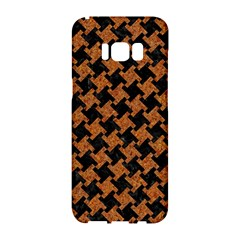 Houndstooth2 Black Marble & Rusted Metal Samsung Galaxy S8 Hardshell Case