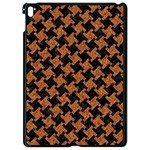 HOUNDSTOOTH2 BLACK MARBLE & RUSTED METAL Apple iPad Pro 9.7   Black Seamless Case Front