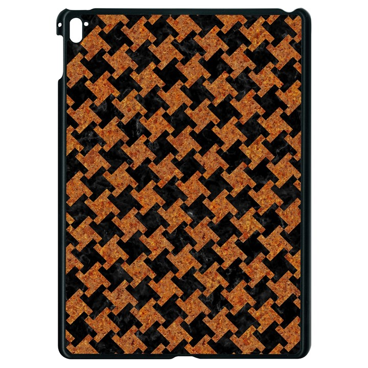 HOUNDSTOOTH2 BLACK MARBLE & RUSTED METAL Apple iPad Pro 9.7   Black Seamless Case