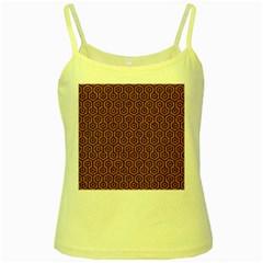 Hexagon1 Black Marble & Rusted Metal Yellow Spaghetti Tank