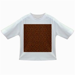 Hexagon1 Black Marble & Rusted Metal Infant/toddler T Shirts