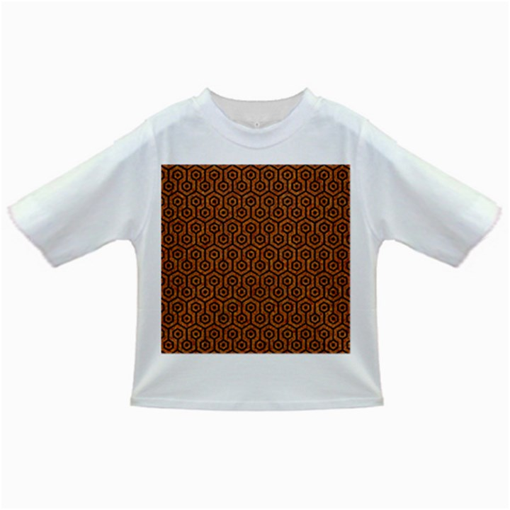 HEXAGON1 BLACK MARBLE & RUSTED METAL Infant/Toddler T-Shirts