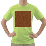 HEXAGON1 BLACK MARBLE & RUSTED METAL Green T-Shirt Front