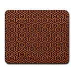 HEXAGON1 BLACK MARBLE & RUSTED METAL Large Mousepads Front