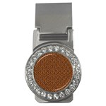 HEXAGON1 BLACK MARBLE & RUSTED METAL Money Clips (CZ)  Front