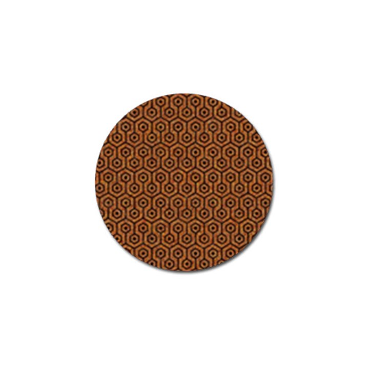 HEXAGON1 BLACK MARBLE & RUSTED METAL Golf Ball Marker (4 pack)