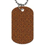 HEXAGON1 BLACK MARBLE & RUSTED METAL Dog Tag (Two Sides) Front