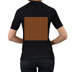 HEXAGON1 BLACK MARBLE & RUSTED METAL Women s T-Shirt (Black) (Two Sided) Back