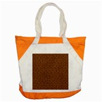 HEXAGON1 BLACK MARBLE & RUSTED METAL Accent Tote Bag Front