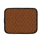 HEXAGON1 BLACK MARBLE & RUSTED METAL Netbook Case (Small)  Front