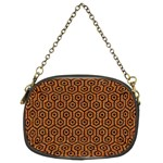 HEXAGON1 BLACK MARBLE & RUSTED METAL Chain Purses (Two Sides)  Front