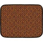 HEXAGON1 BLACK MARBLE & RUSTED METAL Fleece Blanket (Mini) 35 x27 Blanket