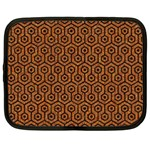 HEXAGON1 BLACK MARBLE & RUSTED METAL Netbook Case (XL)  Front