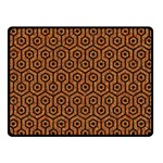 HEXAGON1 BLACK MARBLE & RUSTED METAL Fleece Blanket (Small) 50 x40 Blanket Front