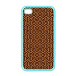 HEXAGON1 BLACK MARBLE & RUSTED METAL Apple iPhone 4 Case (Color) Front