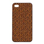 HEXAGON1 BLACK MARBLE & RUSTED METAL Apple iPhone 4/4s Seamless Case (Black) Front