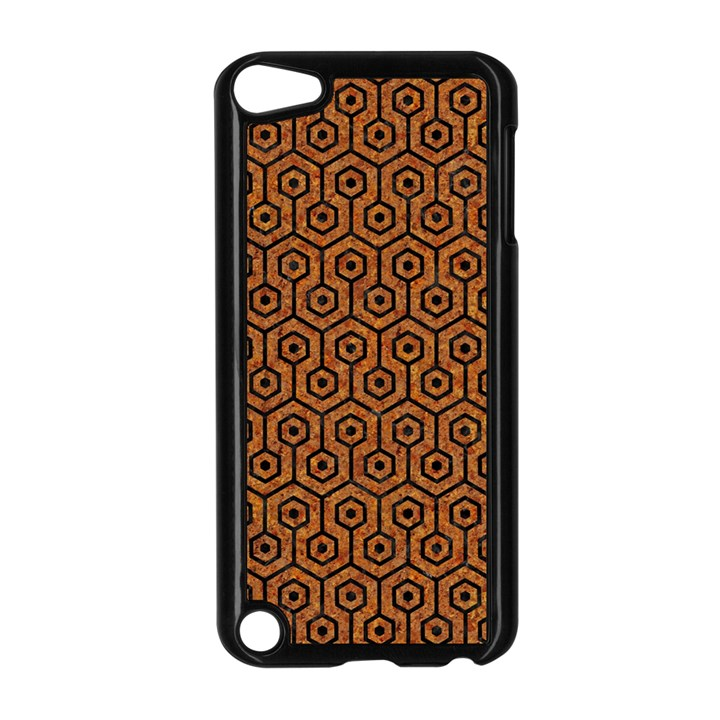 HEXAGON1 BLACK MARBLE & RUSTED METAL Apple iPod Touch 5 Case (Black)