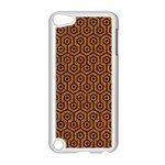 HEXAGON1 BLACK MARBLE & RUSTED METAL Apple iPod Touch 5 Case (White) Front