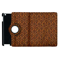Hexagon1 Black Marble & Rusted Metal Apple Ipad 3/4 Flip 360 Case