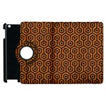 HEXAGON1 BLACK MARBLE & RUSTED METAL Apple iPad 3/4 Flip 360 Case Front