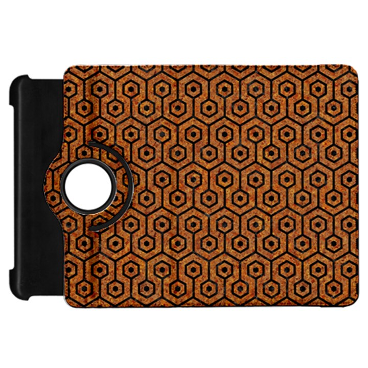 HEXAGON1 BLACK MARBLE & RUSTED METAL Kindle Fire HD 7