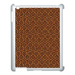 HEXAGON1 BLACK MARBLE & RUSTED METAL Apple iPad 3/4 Case (White) Front