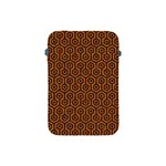 HEXAGON1 BLACK MARBLE & RUSTED METAL Apple iPad Mini Protective Soft Cases Front