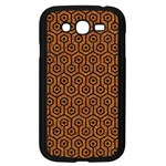 HEXAGON1 BLACK MARBLE & RUSTED METAL Samsung Galaxy Grand DUOS I9082 Case (Black) Front