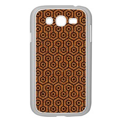 Hexagon1 Black Marble & Rusted Metal Samsung Galaxy Grand Duos I9082 Case (white)