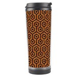 HEXAGON1 BLACK MARBLE & RUSTED METAL Travel Tumbler Center