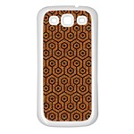 HEXAGON1 BLACK MARBLE & RUSTED METAL Samsung Galaxy S3 Back Case (White) Front