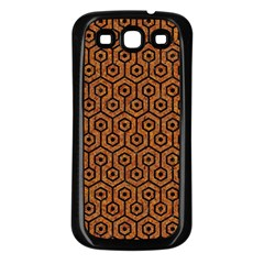 Hexagon1 Black Marble & Rusted Metal Samsung Galaxy S3 Back Case (black)