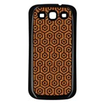 HEXAGON1 BLACK MARBLE & RUSTED METAL Samsung Galaxy S3 Back Case (Black) Front