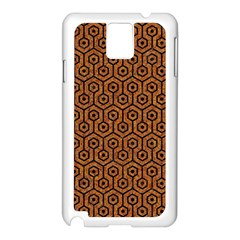 Hexagon1 Black Marble & Rusted Metal Samsung Galaxy Note 3 N9005 Case (white)