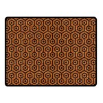 HEXAGON1 BLACK MARBLE & RUSTED METAL Double Sided Fleece Blanket (Small)  45 x34 Blanket Front