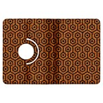 HEXAGON1 BLACK MARBLE & RUSTED METAL Kindle Fire HDX Flip 360 Case Front